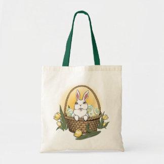 Bolso de compras del arte del conejito de pascua bolsa