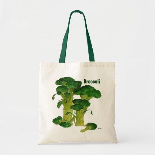 Bolso de compras del bróculi bolsas
