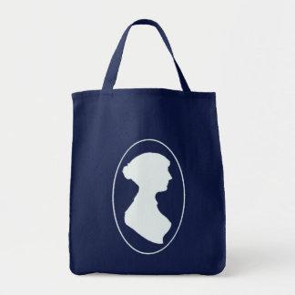 Bolso de compras del camafeo de Jane Austen Bolsa Tela Para La Compra