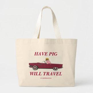 Bolso de compras del cerdo bolsas de mano