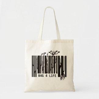 bolso de compras del código de barras - adaptable bolsa tela barata