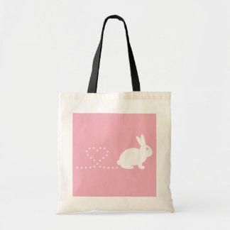 Bolso de compras del conejo del corazón de Pooping Bolsa Lienzo