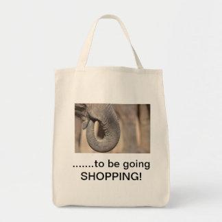 bolso de compras del elefante bolsa