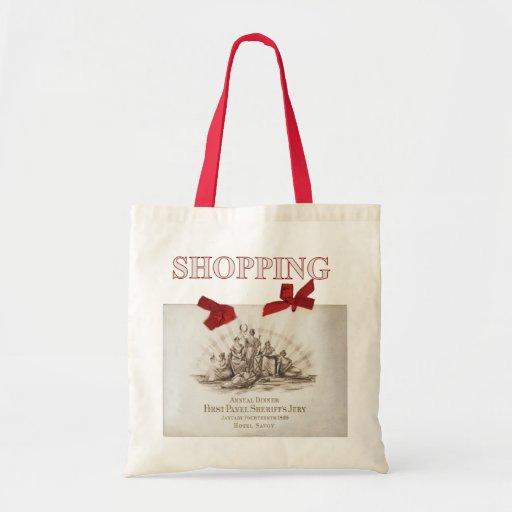 Bolso de compras del menú bolsa tela barata