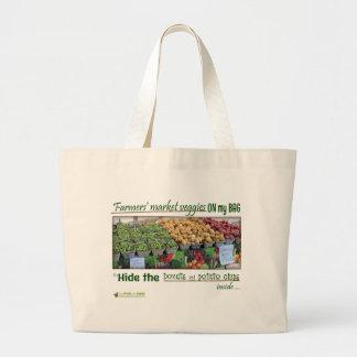Bolso de compras del mercado de los granjeros bolsa de tela grande
