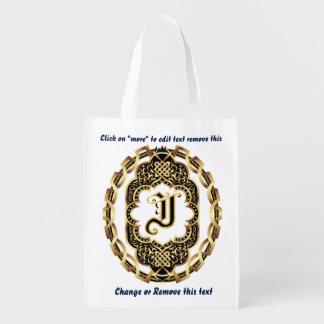 Bolso de compras del monograma J reutilizable Bolsas De La Compra
