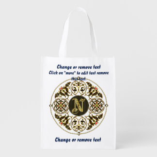 Bolso de compras del monograma N reutilizable Bolsas Para La Compra