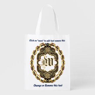 Bolso de compras del monograma W reutilizable Bolsa Para La Compra
