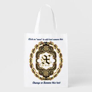 Bolso de compras del monograma X reutilizable Bolsas De La Compra