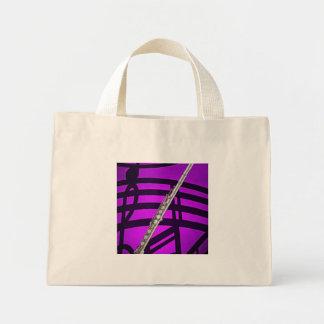 Bolso de compras del músico del flautista de la fl bolsa tela pequeña