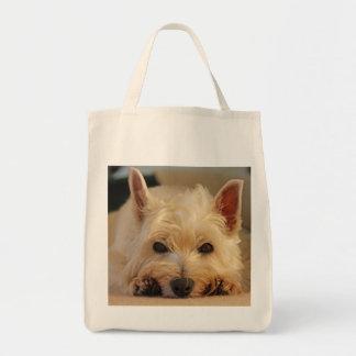 Bolso de compras del oeste lindo del perro de bolsa tela para la compra