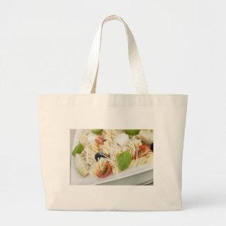 Bolso de compras del paño de la ensalada de pasta bolsa tela grande