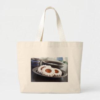 Bolso de compras del paño de las galletas del bolsa de tela grande