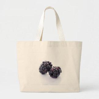 Bolso de compras del paño de las zarzamoras bolsa tela grande