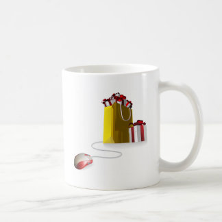 Bolso de compras del regalo del ratón tazas de café
