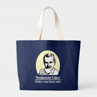 Bolso de compras del tote del café descafeinado bolsas