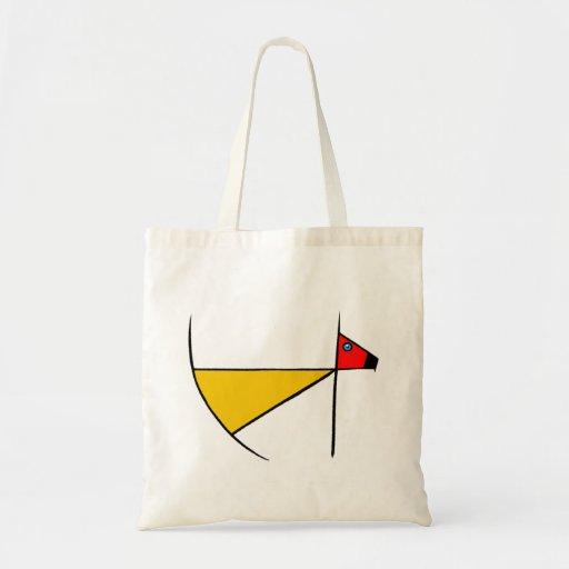 Bolso de compras del tote del perro del zen bolsa lienzo