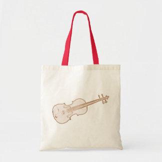 Bolso de compras del tote del violín bolsa tela barata