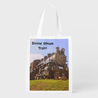 Bolso de compras del tren del vapor bolsas reutilizables
