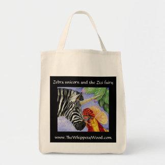 Bolso de compras del unicornio de la cebra bolsa de mano