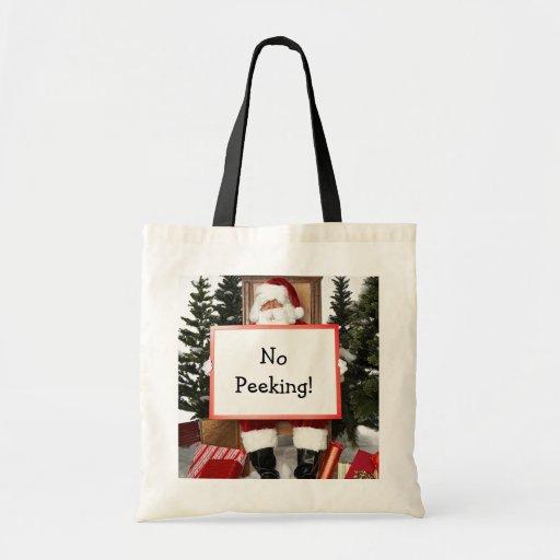 Bolso de compras divertido del navidad bolsas