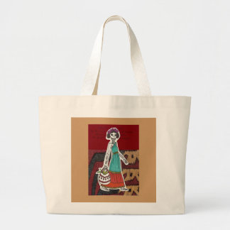 Bolso de compras esquelético del chica bolsa lienzo