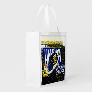Bolso de compras hawaiano de la playa bolsas de la compra