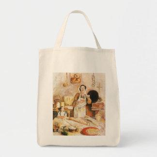 """Bolso de compras, la """"cocina de la abuela """""""
