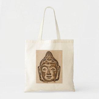 Bolso de compras Meditating del tote de Buda Bolsa Tela Barata