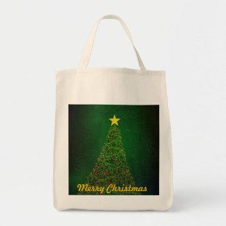Bolso de compras orgánico del árbol de navidad de bolsa tela para la compra