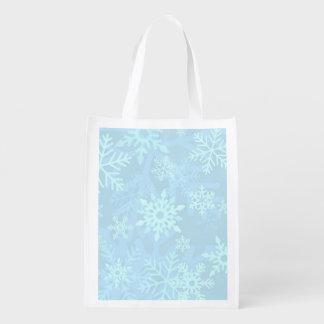 Bolso de compras plegable del copo de nieve del bolsa de la compra