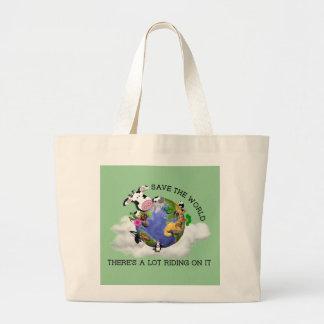 Bolso de compras reutilizable bolsa tela grande