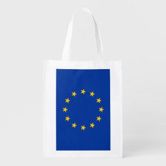 Bolso de compras reutilizable de la bandera de uni bolsas para la compra