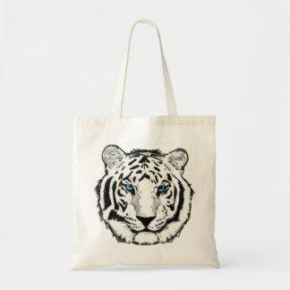 Bolso de compras reutilizable de la lona del tigre bolsa tela barata