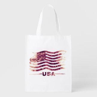 Bolso de compras reutilizable de los E.E.U.U. Bolsa De La Compra