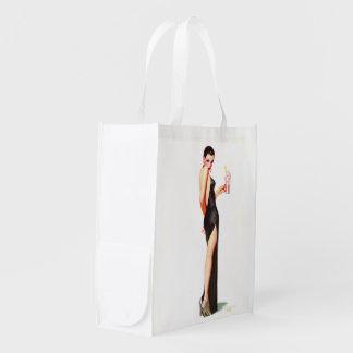 Bolso de compras reutilizable del chica del bolsa de la compra