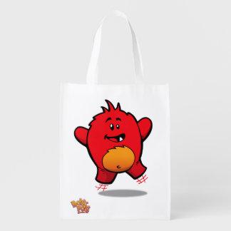 Bolso de compras reutilizable del monstruo bolsas reutilizables