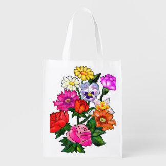 bolso de compras reutilizable floral bolsa reutilizable
