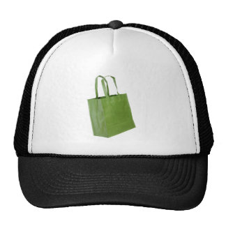 Bolso de compras verde gorro de camionero
