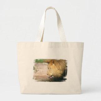 Bolso de consumición de la lona del león bolsas