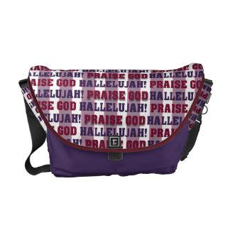 Bolso de dios de la alabanza del Hallelujah Bolsas Messenger
