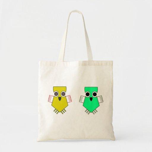 Bolso de dos pequeño pájaros bolsa lienzo