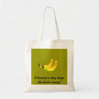 Bolso de dos plátanos bolsa tela barata