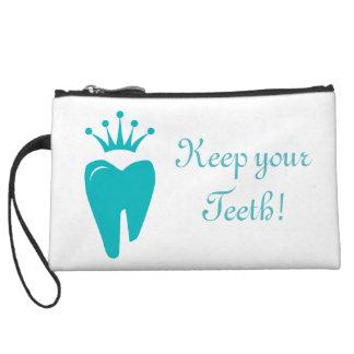 Bolso de embrague azul del diente del logotipo lin