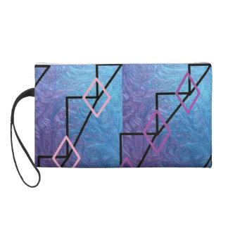 bolso de embrague azul y púrpura lindo