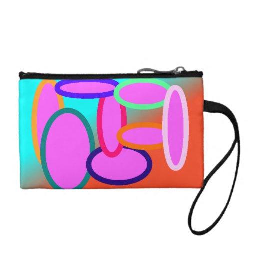 bolso de embrague brillante y colorido
