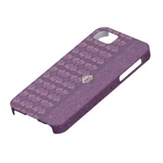 Bolso de embrague de color morado oscuro funda para iPhone SE/5/5s