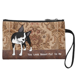 Bolso de embrague de la libertad de Boston Terrier