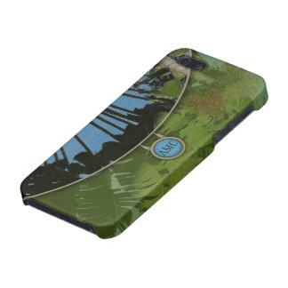 Bolso de embrague tropical de la tarde iPhone 5 carcasa