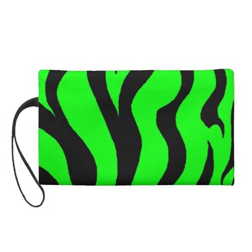 bolso de embrague verde del estampado de animales